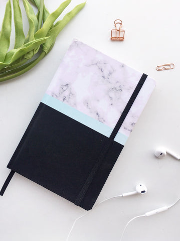 Marble Obsessed Multi-Purpose Journal Notebook | Hardcover | Plain