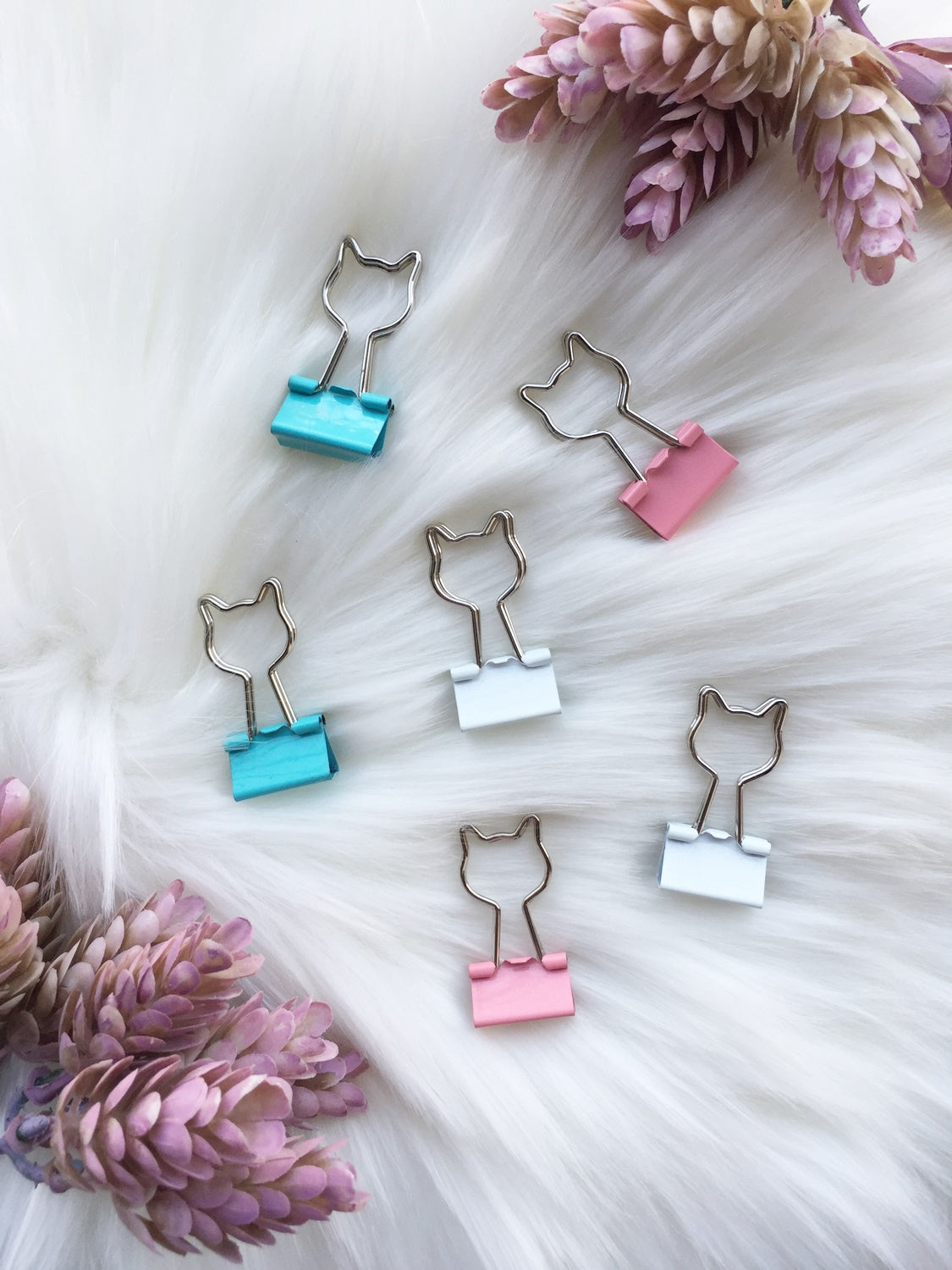 Pretty Kitty Paper Binder Clips | 25 mm | Set of 6 or 12