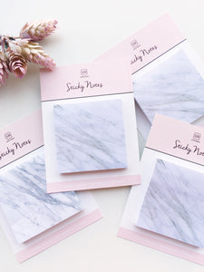 Marble Sticky Notes | Self Adhesive | 75 sheets