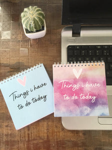 Things I have to do Today Planner | 5x5"