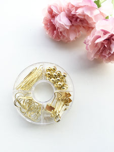 Gold Donut Clip Box
