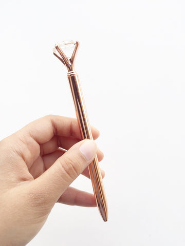 Luxury Rose Gold Crystal ballpoint Pen