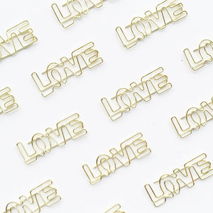 LOVE Paper Clips | Gold | Set of 4 or 8