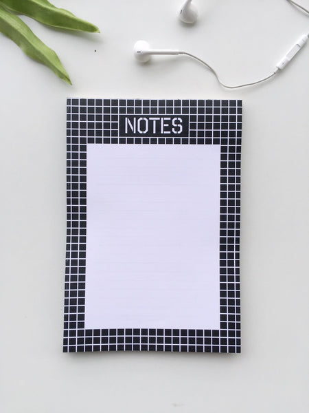 Checkered Trio | Set of A5 Notebook, Notepad and A6 Notebook