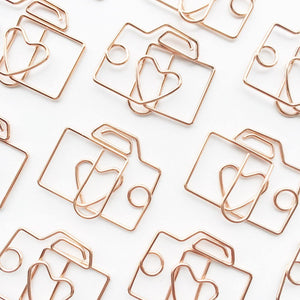 Camera Paper Clips | Rose Gold | Set of 4 or 8