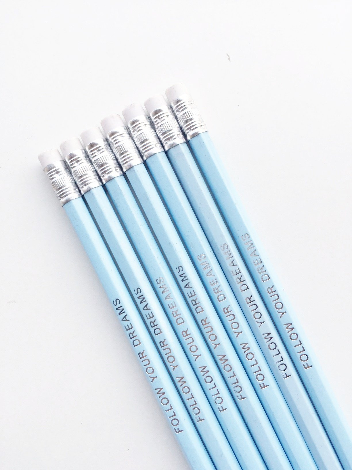 Follow your Dreams Pencils | Set of 4 | Ice Blue