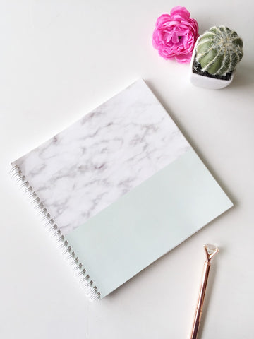 Subtle Marble square Spiral Notebook | 8 x 8 ""