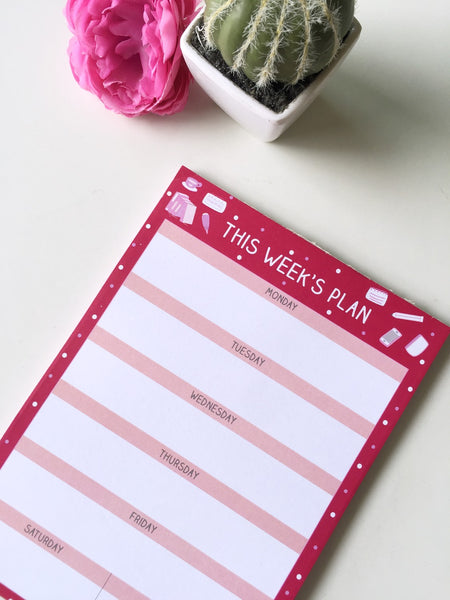 Sweet Ruby Daily/ Weekly/Monthly Planners | A5 Size | 50 sheets each