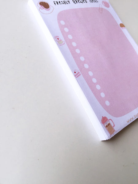 Twee Peach To do List / Notepad | 50 sheets each