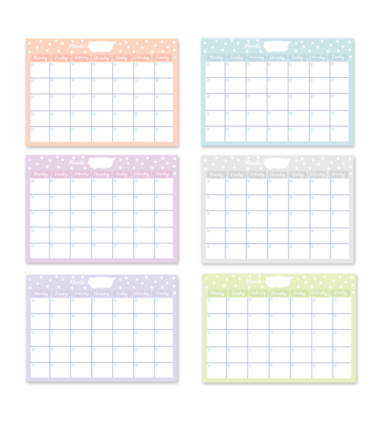 Undated Monthly Planner Pad | 48 Tear off Sheets | A4 Size
