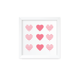 Queen of Hearts Wall Art with Frame