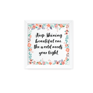 Floral Paradise Wall Art with Frame