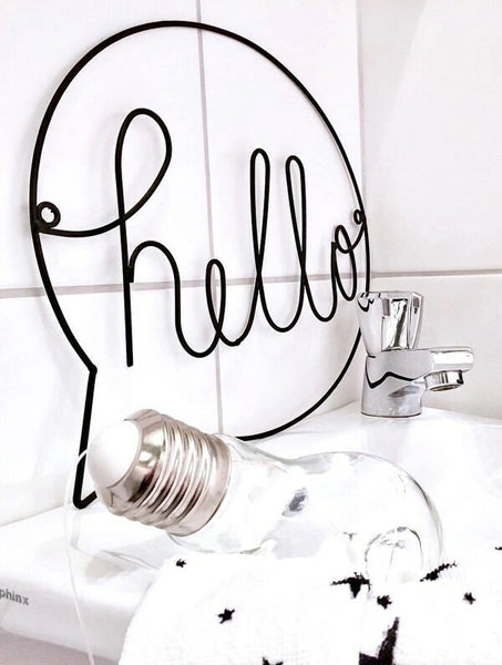 Hello - Modern Wall Decor