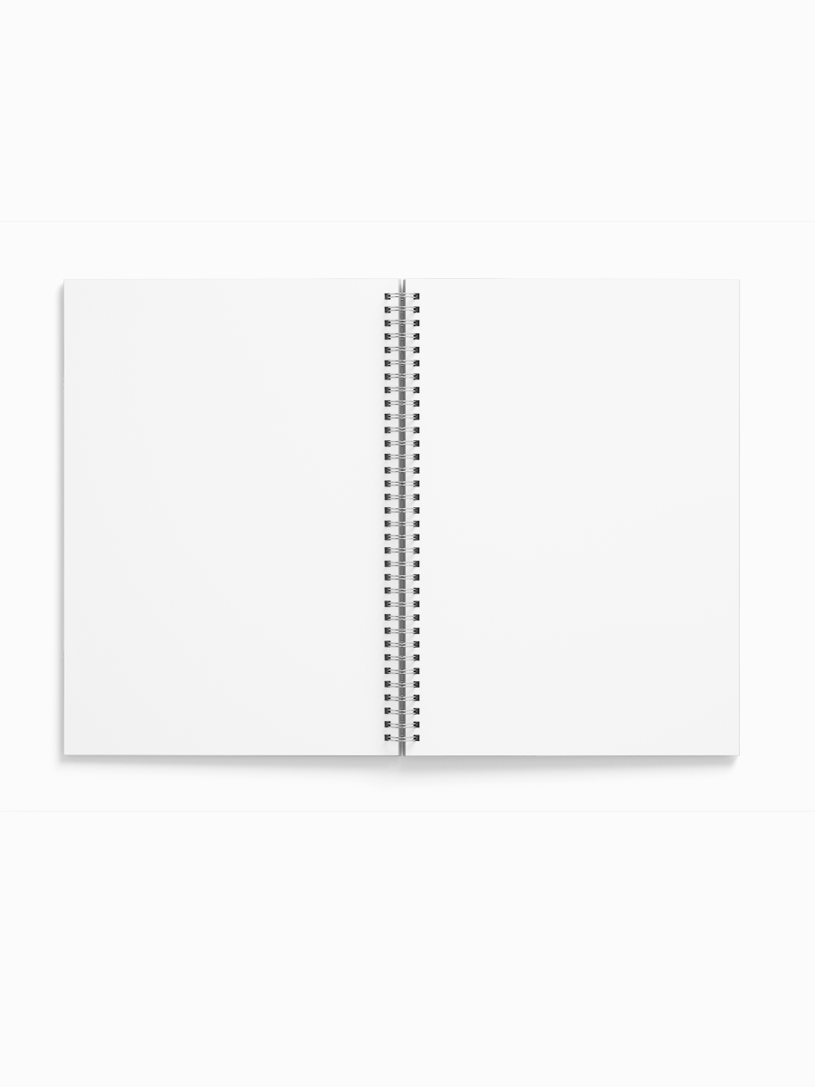 Happy Heart Spiral Bound Soft Cover Notebook | A4 size