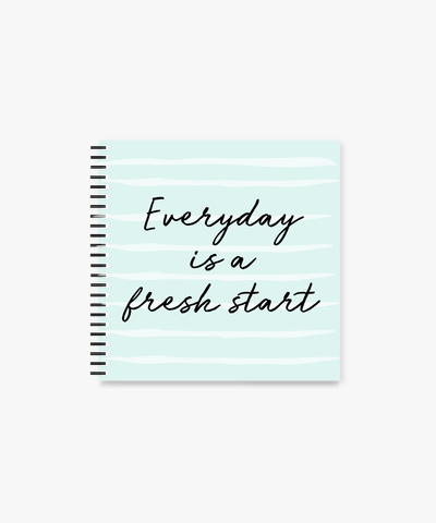 Fresh Start square Spiral Notebook | 8 x 8 ""