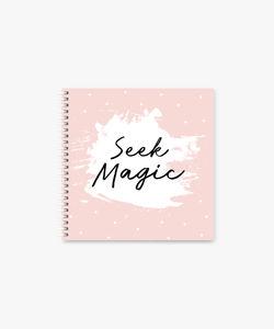 Seek Magic square Spiral Notebook | 8 x 8 ""