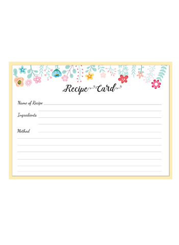 recipe card - Supple Room