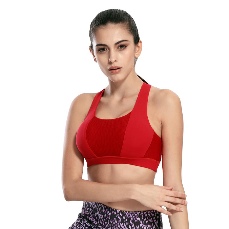Cross Strap Push Up Workout Bra - dodosoo