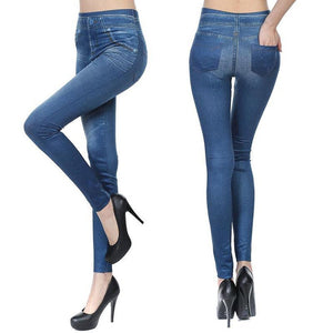 Women Jeggings - Denim Pants with Pockets - dodosoo
