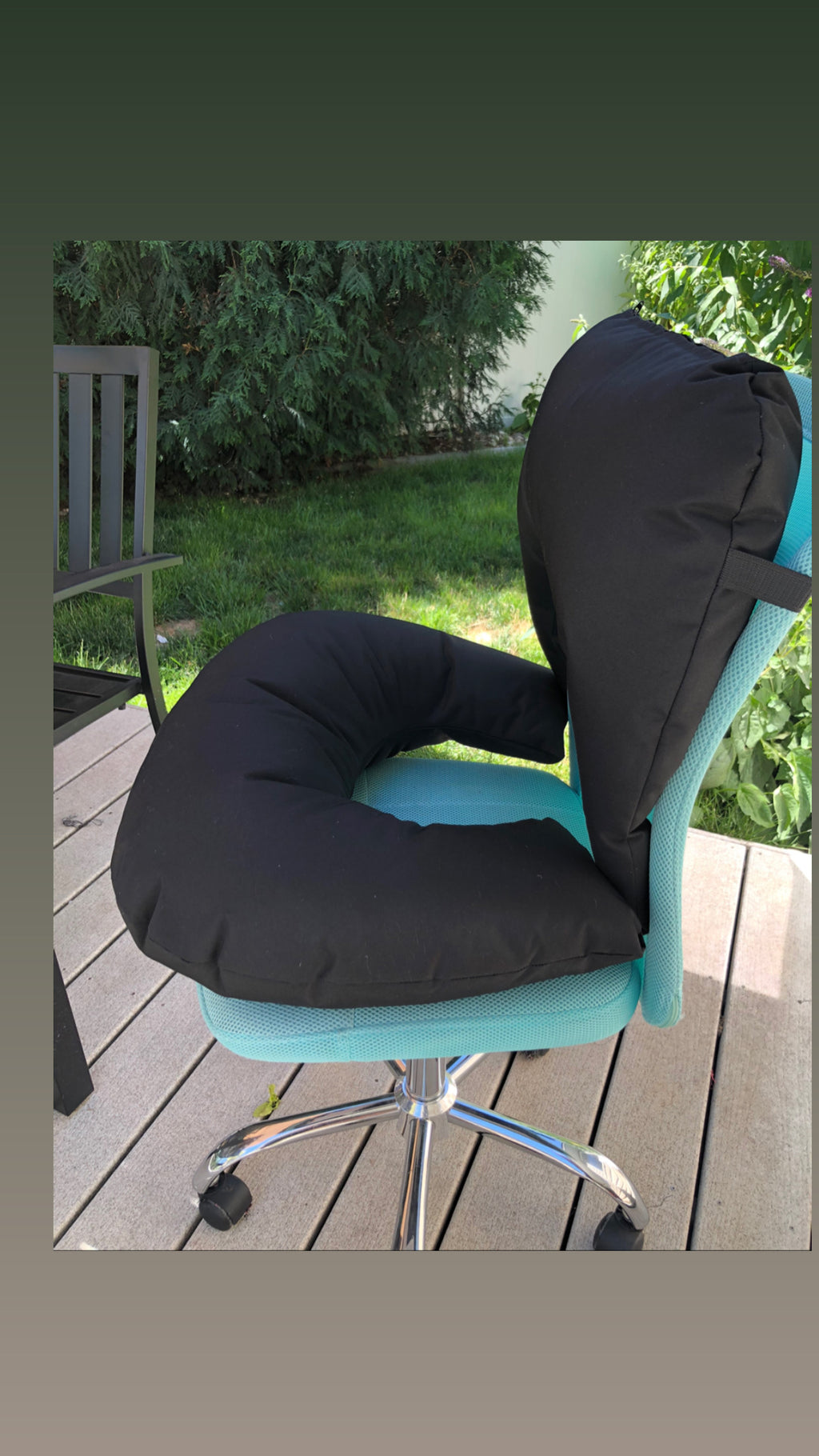 Black UBooty with Detachable Back Support - Bootybeanbag