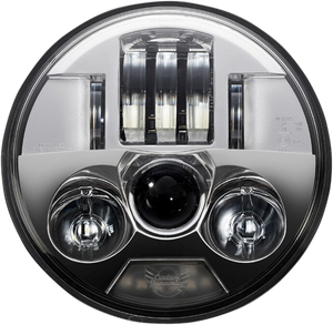 "ProBEAM LED Headlamp 5-3/4"" - Chrome - Lutzka's Garage"