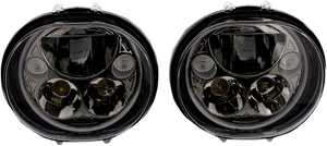 "LED Headlight - 5-3/4"" - Black - Pair - Lutzka's Garage"