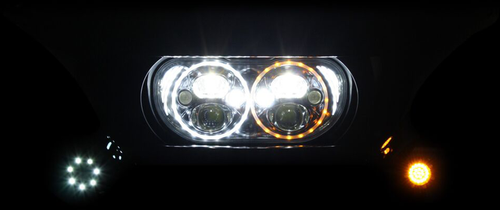 Headlight 15-20 FLTR - Chrome - Lutzka's Garage
