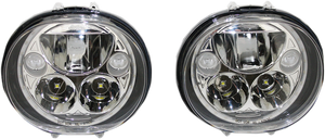 "LED Headlight - 5-3/4"" - Chrome - Pair - Lutzka's Garage"