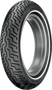 Tire - D402 - MT90-16 - Small Whitewall - Front - Lutzka's Garage
