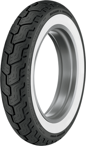 Tire - D402 - MT90-16 - Wide Whitewall - Rear - Lutzka's Garage