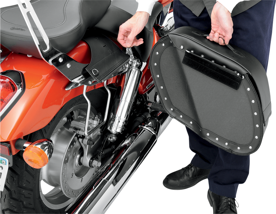 Drifter Saddlebags with Shock Cutaway - Lutzka's Garage