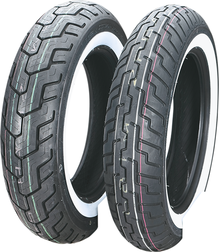 Tire - D404 - Front - Wide Whitewall - 150/80H16 - Lutzka's Garage