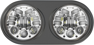 Adaptive LED Headlamps - Harley Davidson - Chrome