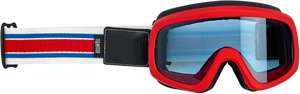 Overland 2.0 Goggles - Racer - Red/White/Blue - Lutzka's Garage