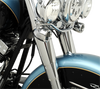 Fork Slider Covers - Chrome - Smooth - Stock Length - Replacement OEM Number 45964-86 - Lutzka's Garage