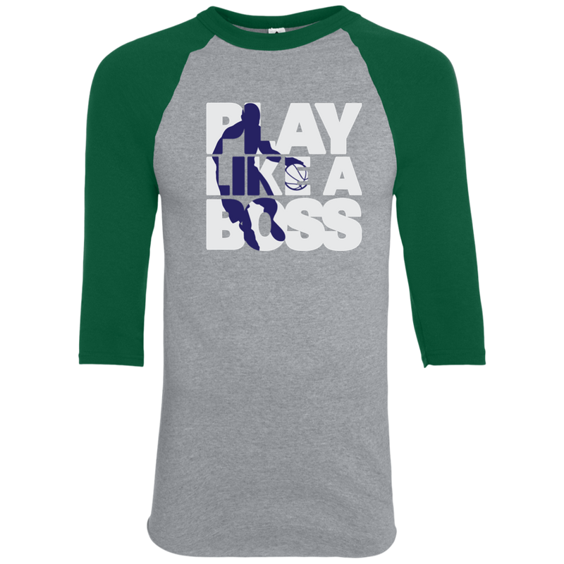 Youth Boys Basketball Play Like A Boss™ Raglan T-Shirt