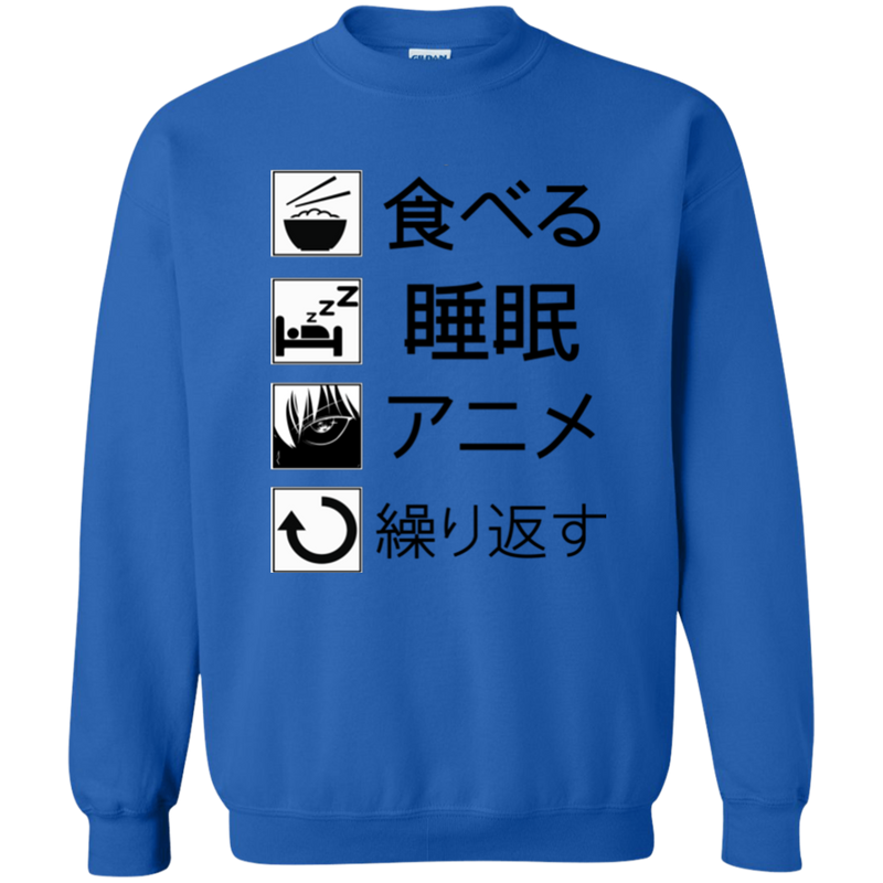Eat Sleep Anime Repeat Crewneck Sweatshirt
