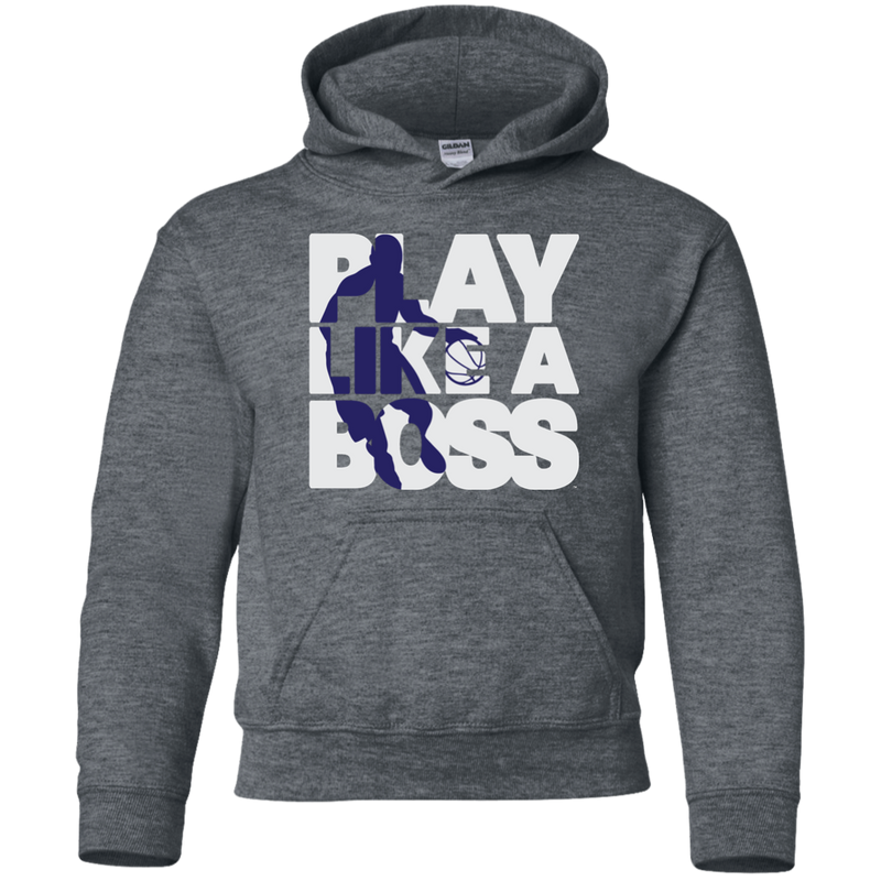 Youth Boys Basketball Play Like A Boss™ Pullover Hoodie