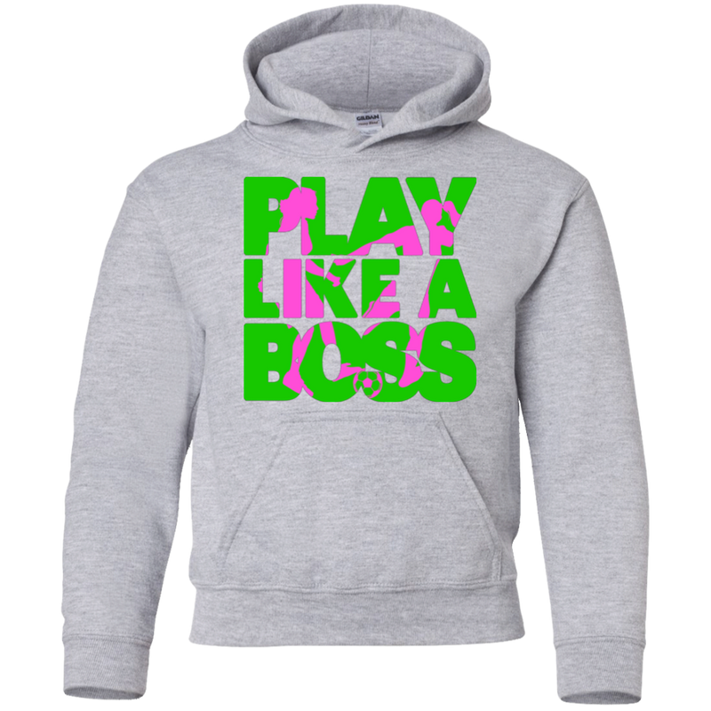 Play Like A Boss™ Youth Girls Soccer Hoodie
