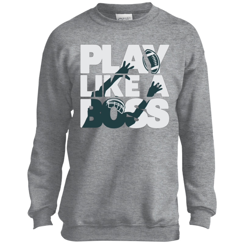 Play Like a Boss™ Youth Football Sweatshirt