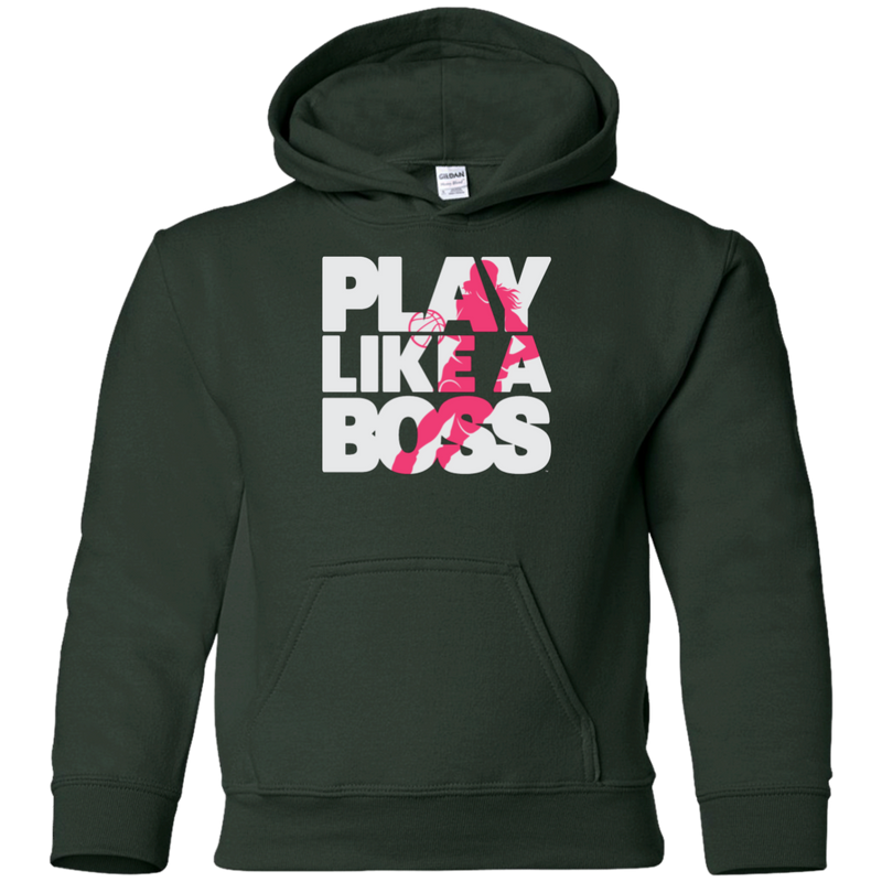 Play Like a Boss™ Youth Girls Basketball Pullover Hoodie