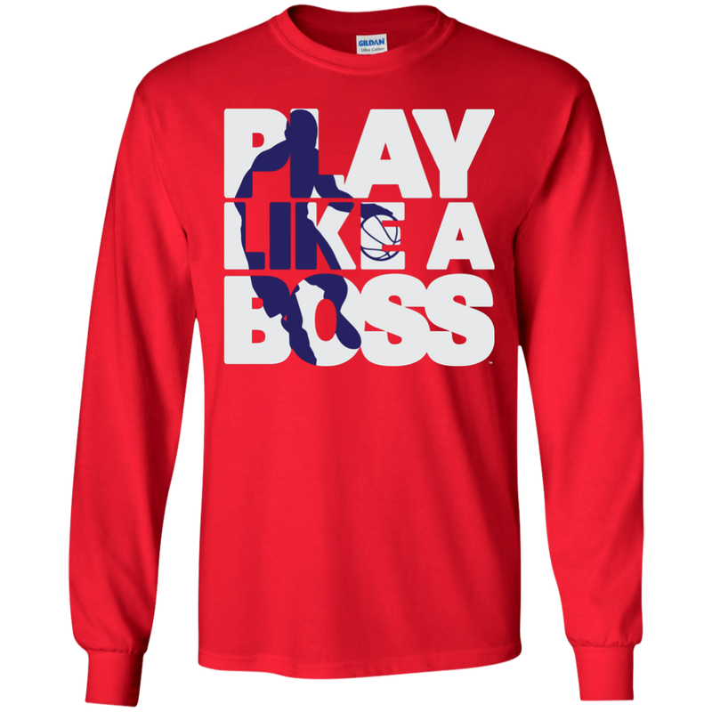 Men's Basketball Play Like A Boss™  Long Sleeve T-Shirt