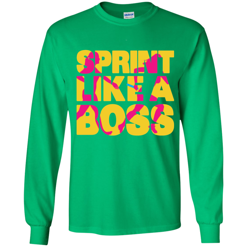 Sprint Like A Boss Youth Girls Relay Long Sleeve T-Shirt