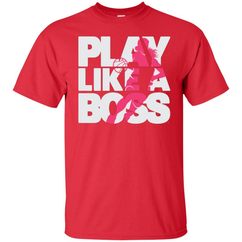 Youth Girls Basketball Play Like a Boss™ T-Shirt