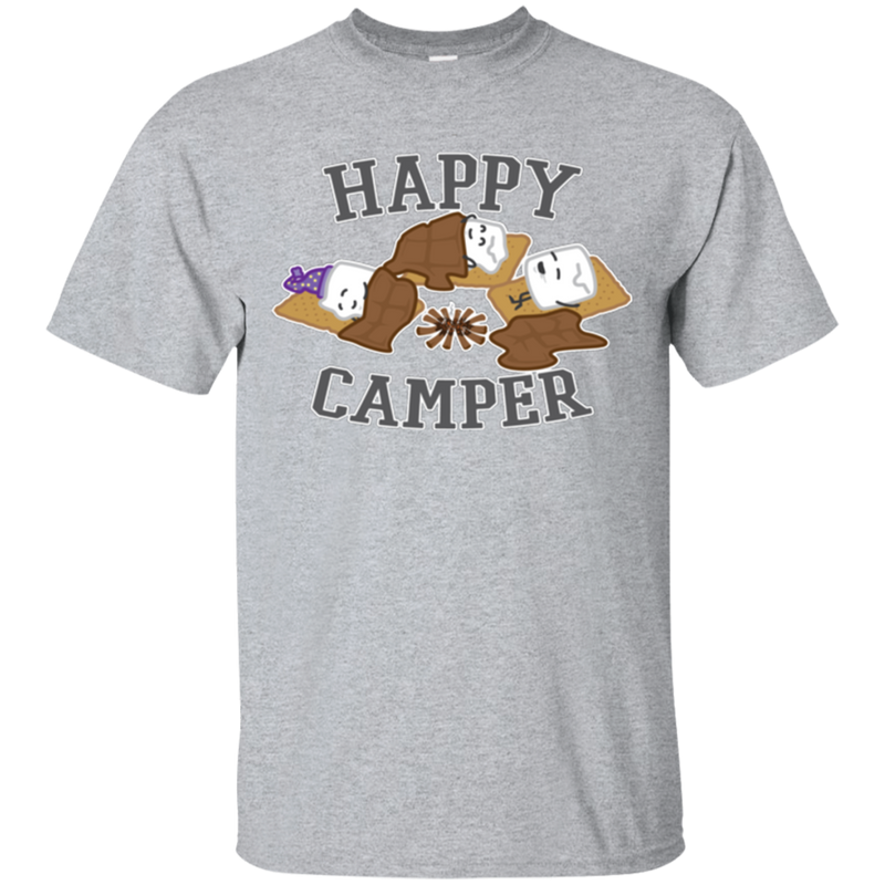 Happy Camper Sleeping Marshmallows T-Shirt