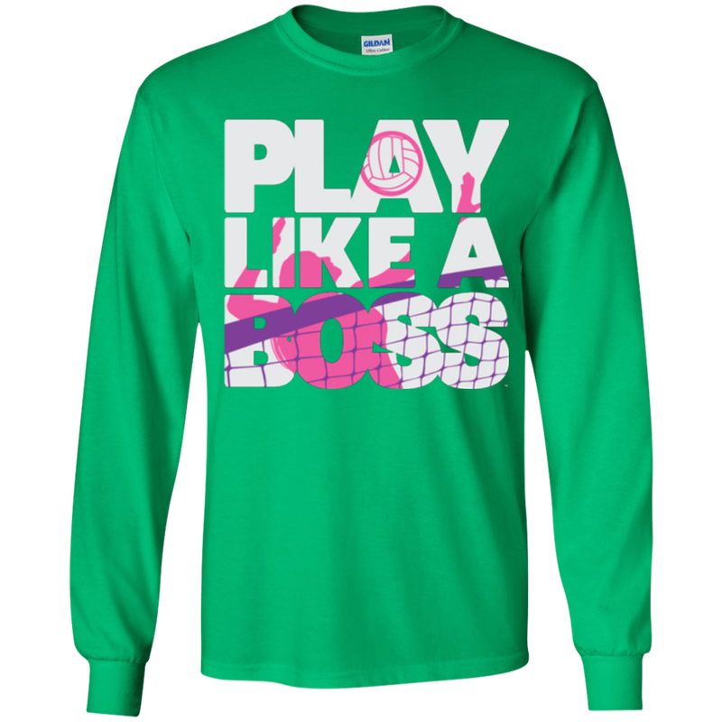 Play Like a Boss™ Youth Girls Volleyball LS T-Shirt