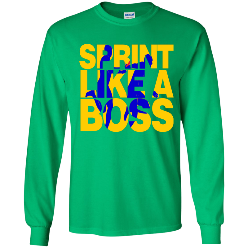 Sprint Like A Boss Boys Relay Long Sleeve T-Shirt