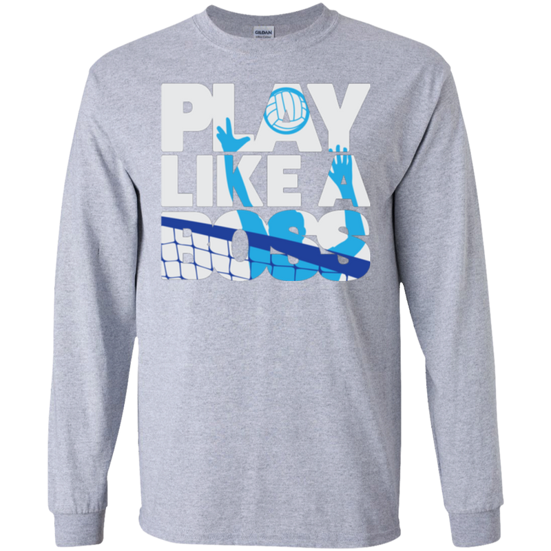 Play Like a Boss™ Men's Volleyball Long Sleeve T-Shirt