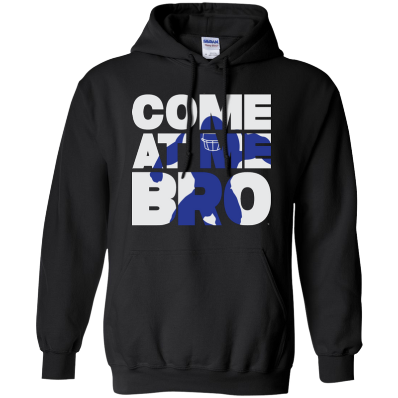Come At Me Bro' Men's Football Pullover Hoodie
