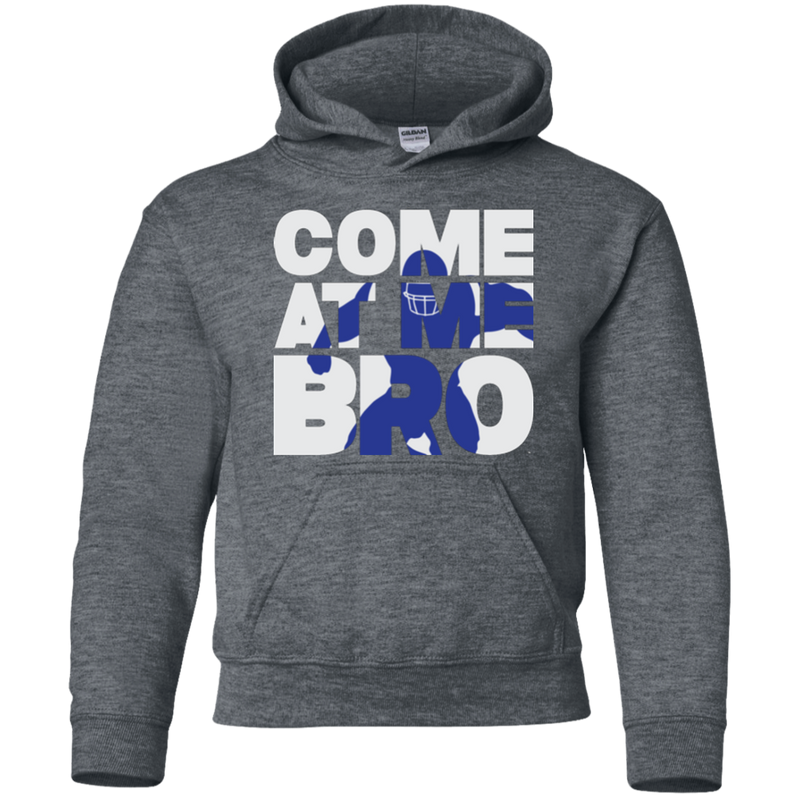 Come At Me Bro' Youth Football Pullover Hoodie